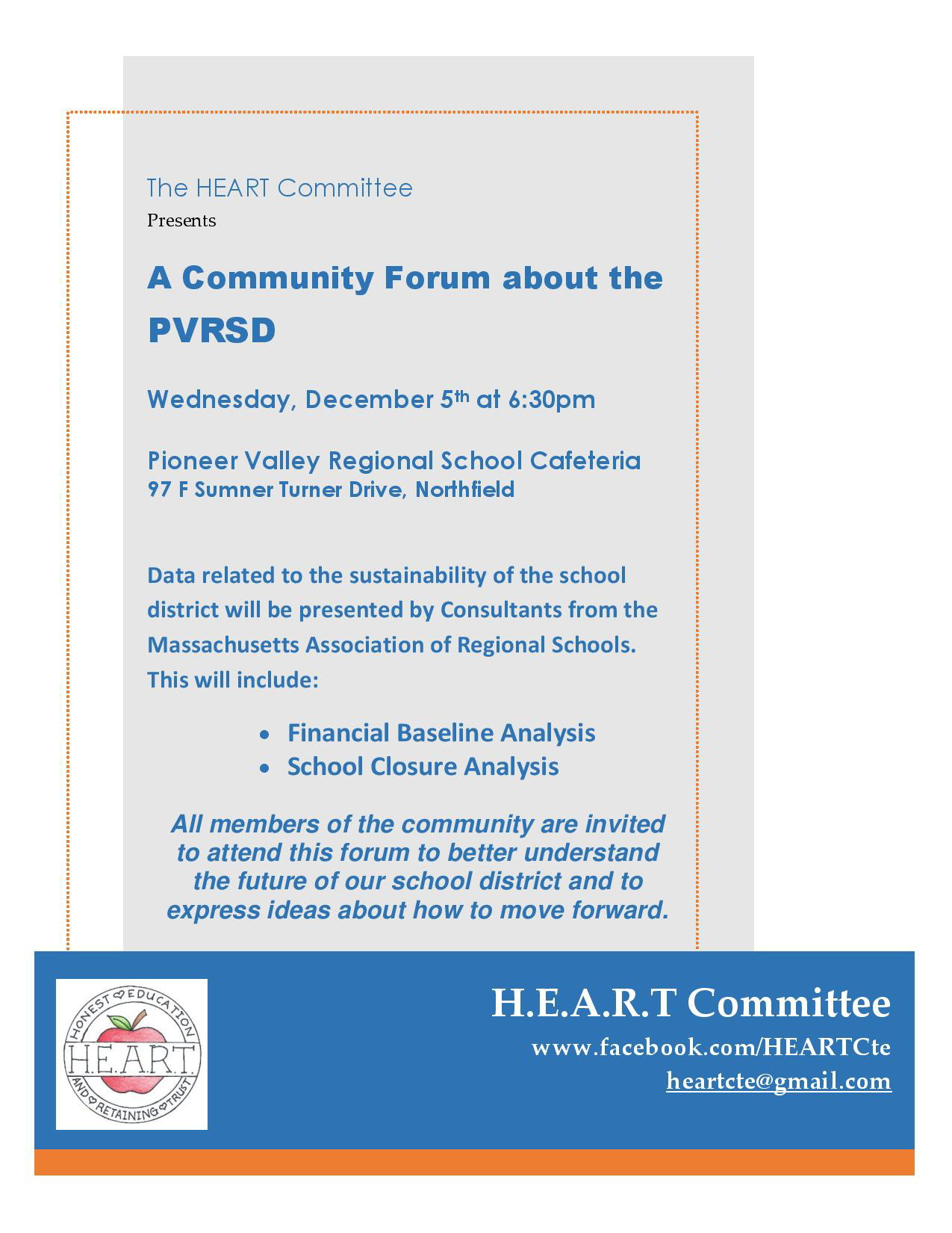 HEART Community Forum 12 2018