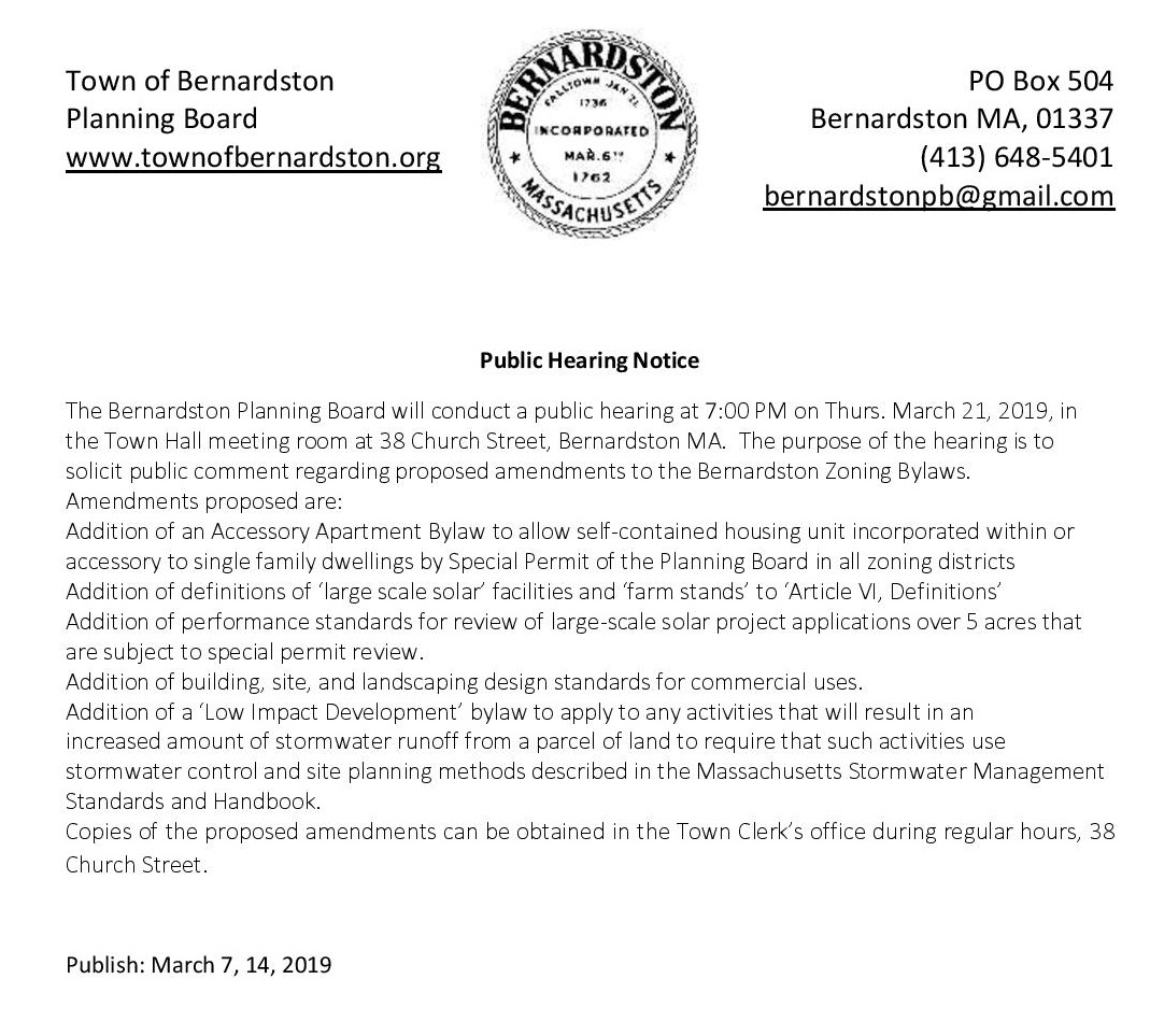 Public Hearing Notice Spring 2019 Zoning Amendments Edited page 001